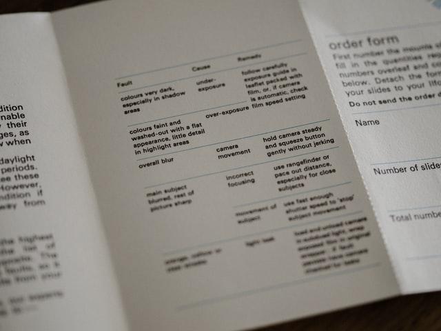 leaflet print out